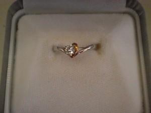 プラチナ900・18金コンビ 0.1カラットダイヤモンドリングを買取させていただきました。ザ・ゴールド須賀川インター店(福島県須賀川市) 福島県須賀川市にあるザ・ゴールド 須賀川インター店の画像2
