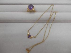 とてもきれいな紫色の石がついたネックレスと指輪を買取させていただきました☆ザ・ゴールドいわき平店(福島県いわき市平) 福島県いわき市にあるザ・ゴールド いわき平店の画像4