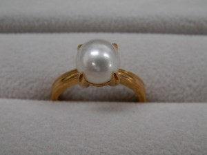 18金パール指輪を買取させていただきました。☆ザ・ゴールドいわき平店(福島県いわき市平) 福島県いわき市にあるザ・ゴールド いわき平店の画像2