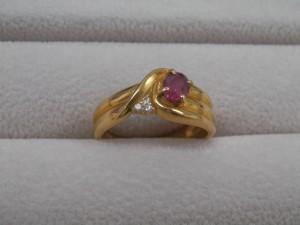 18金石付き指輪を買取させていただきました。☆ザ・ゴールドいわき平店(福島県いわき市平) 福島県いわき市にあるザ・ゴールド いわき平店の画像2