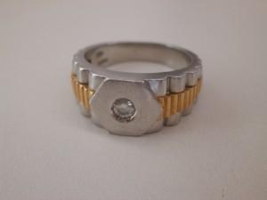 0.13カラット プラチナ850・18金コンビダイヤモンドリングを買取させていただきました。ザ・ゴールド須賀川インター店(福島県須賀川市) 福島県須賀川市にあるザ・ゴールド 須賀川インター店の画像2