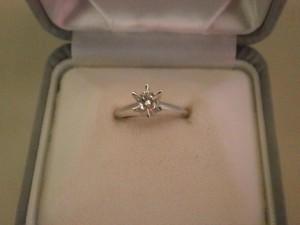 0.25カラット プラチナ900ダイヤモンドリングを買取させていただきました。ザ・ゴールド須賀川インター店(福島県須賀川市) 福島県須賀川市にあるザ・ゴールド 須賀川インター店の画像2