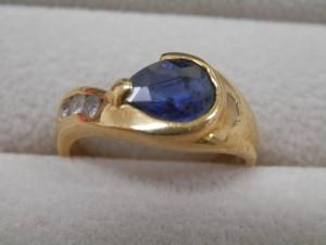 青い石のついた金の指輪を買取させていただきました☆ザ・ゴールドいわき平店(福島県いわき市平) 福島県いわき市にあるザ・ゴールド いわき平店の画像4