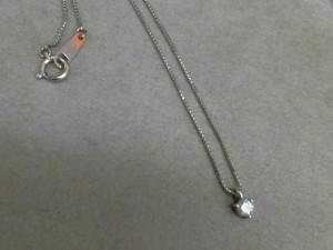 18金ホワイトゴールド 0.23ctダイヤモンドネックレス買取させていただきました!ザ・ゴールド長岡店(新潟県長岡市) 新潟県長岡市にあるザ・ゴールド 長岡店の画像2