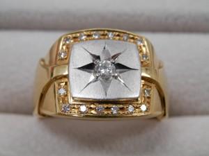 ダイヤの埋まったコンビの指輪を買取させていただきました☆ザ・ゴールドいわき平店(福島県いわき市平) 福島県いわき市にあるザ・ゴールド いわき平店の画像4