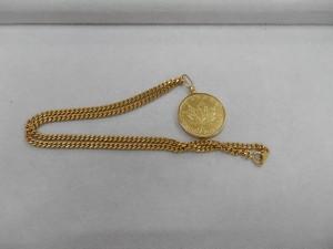メープルリーフ金貨付きネックレスを買取させていただきました☆ザ・ゴールドいわき平店(福島県いわき市平) 福島県いわき市にあるザ・ゴールド いわき平店の画像4