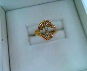 18金の石の取れたリングを買い取りさせていただきました。ザ・ゴールド 柴田店 宮城県柴田郡 柴田町 宮城県柴田郡にあるザ・ゴールド 柴田店の画像2