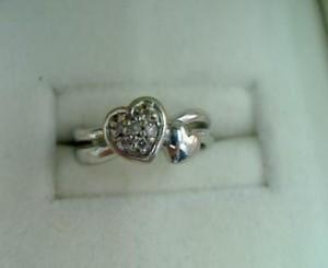 ダイヤ付きかわいいハートのリングを買い取りさせていただきました。ザ・ゴールド 柴田店 宮城県柴田郡 柴田町 宮城県柴田郡にあるザ・ゴールド 柴田店の画像2