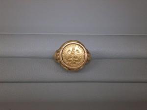 18金コイン付リング 若林区のお客さまから買取させていただきました。貴金属・ダイヤモンド付製品、ブランドバッグ・ブランド腕時計買取専門店 ザ・ゴールド泉インター店(宮城県仙台市泉区) 宮城県仙台市にあるザ・ゴールド 泉インター店の画像2